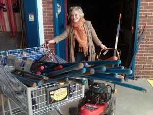 Sally Sears loads up to Save Peachtree Creek!