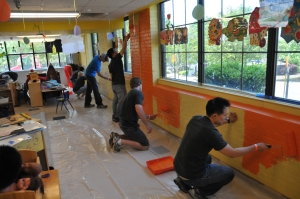 Buckhead Church volunteers refurbish an Atlanta Boys and Girls Club.